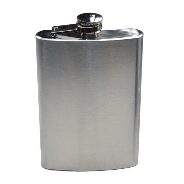 193-10 Large Stainless flask w/ Brush Finish