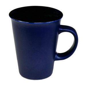 "120-481blu Latte ""Funnel"" 14 oz/ Blue Gloss in /Matte out"