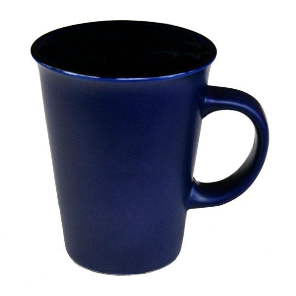 "120-481blu Latte ""Funnel"" 14 oz/ Blue Gloss in /Matte out"