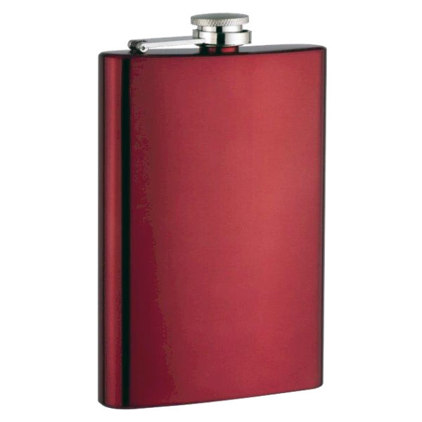 193-09a-flask-red-8-oz