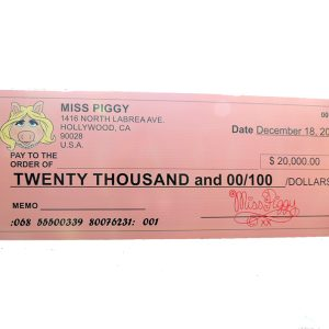 signs cheque